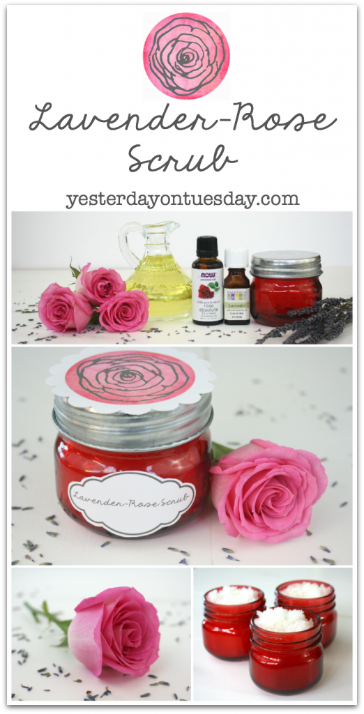 Lavender Rose Scrub in a mason jar