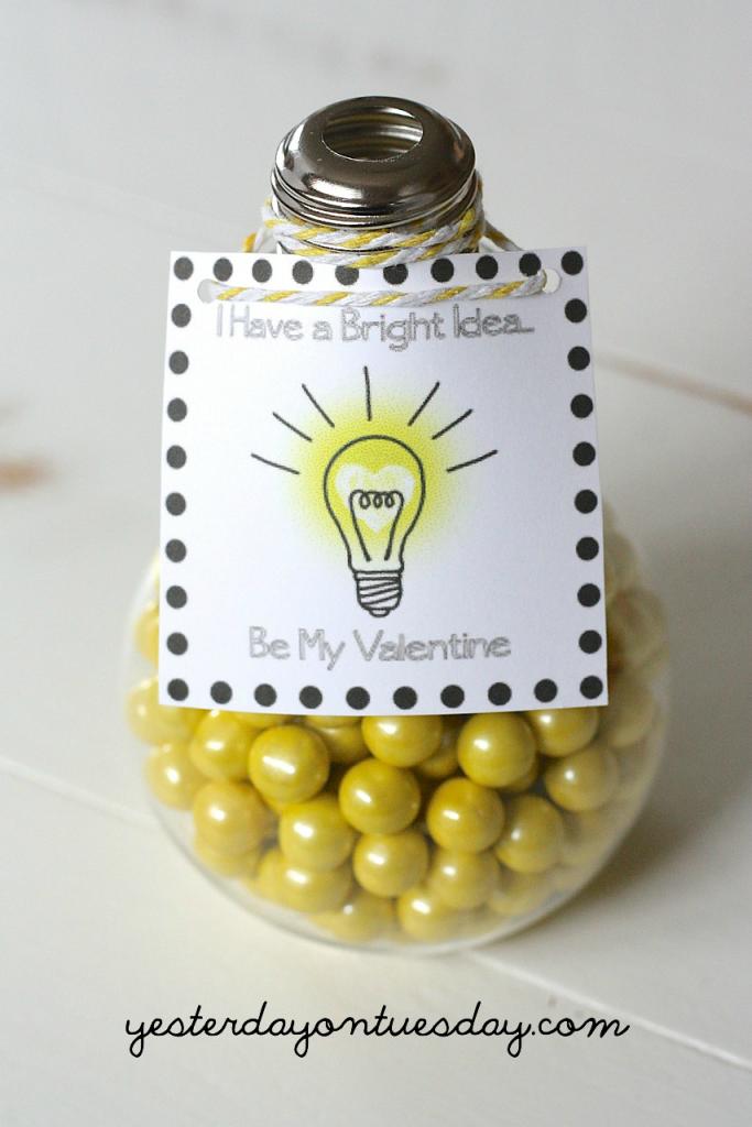 Light Bulb Valentines