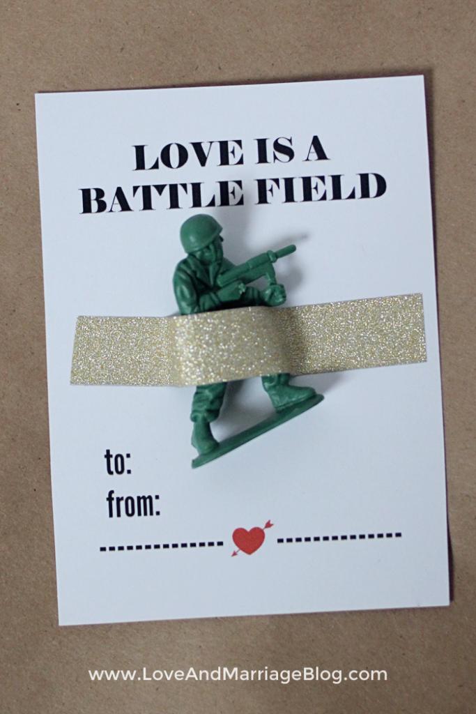 Love is a Battlefield Valentine