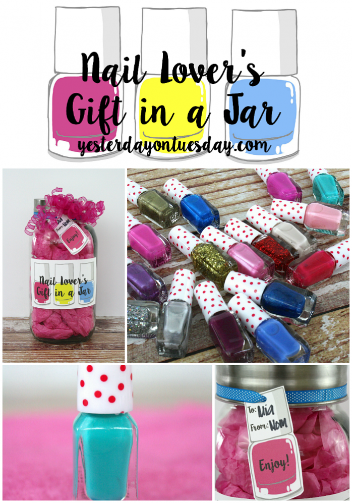Nail Lovers Gift in a Jar