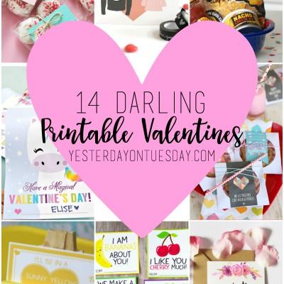 14 Darling Printable Valentines