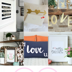 9 Valentine's Day Decor Ideas for All Year Long including printable art, pillows, a banner and more!
