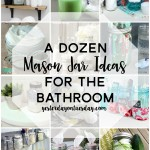 A Dozen Mason Jar Ideas for the Bathroom: Smart organizing ideas for the bathroom.