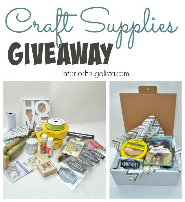 Craft Supplies Giveaway Graphic