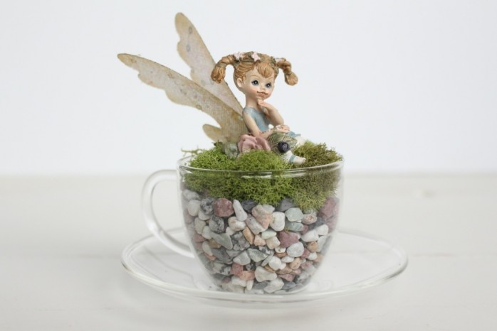Fun Faux Succulent Projects including a gnome garden, fairy in a teacup and more!