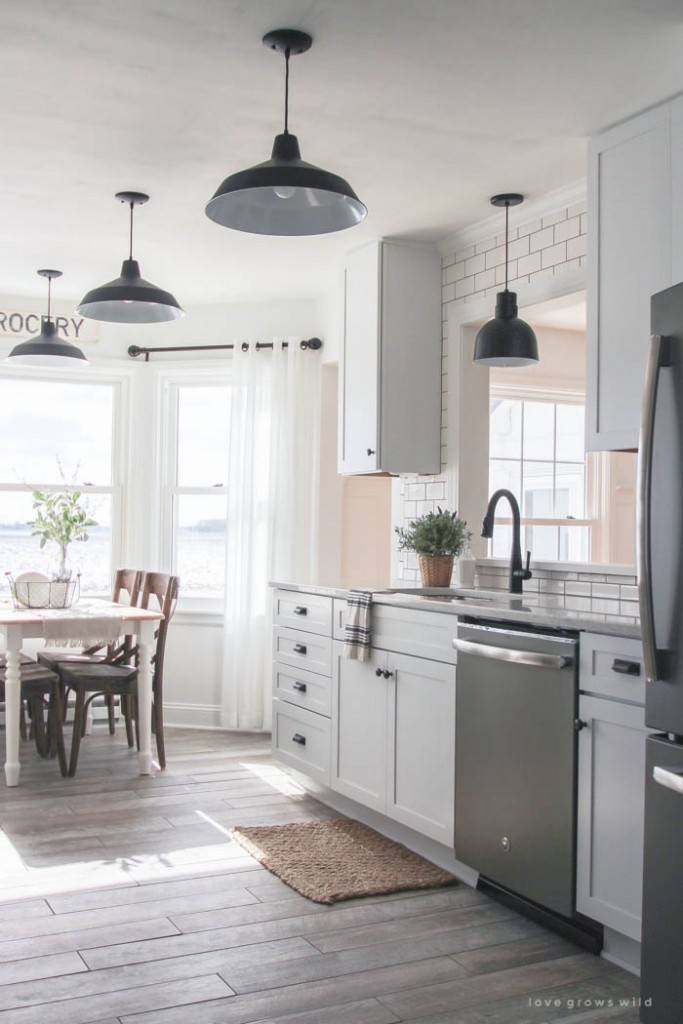 Farmhouse Kitchen Makeover Reveal from Love Grows Wild