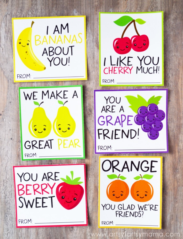 Fruit Valentines