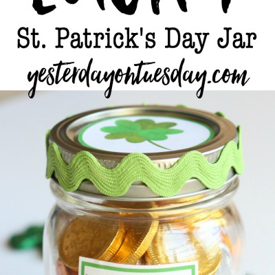 Lucky St. Patrick's Day Mason Jar