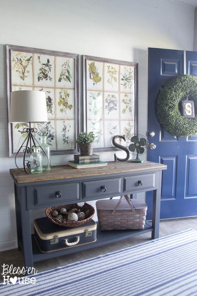 Modern Farmhouse Foyer from Blesser House