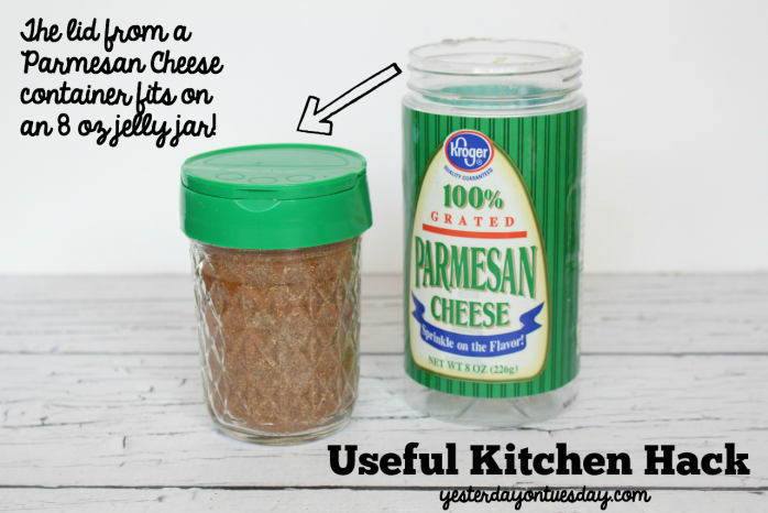 How to use Parmesan Lids on Mason Jars for an awesome hack