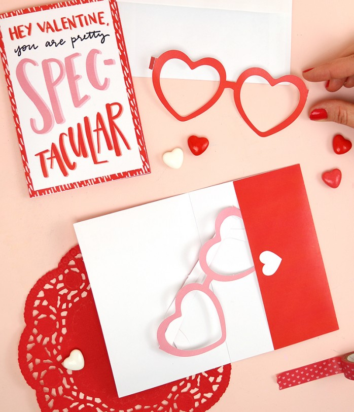 Printable Glasses Valentines