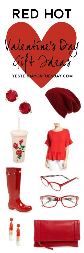 Red Hot Valentine's Day Gifts: Great stylish red hued gift ideas to give or get for Valentine's Day.