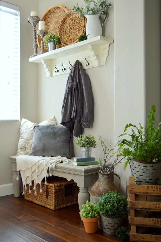 Simple Spring Entryway from Home Remedies