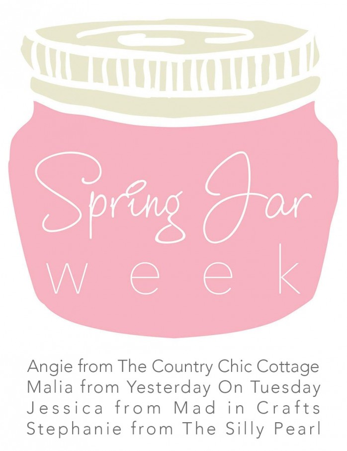 Spring Jar Week: Four bloggers share a new mason jar project every day for a week. Spring  drafts, decor, gifts and more!