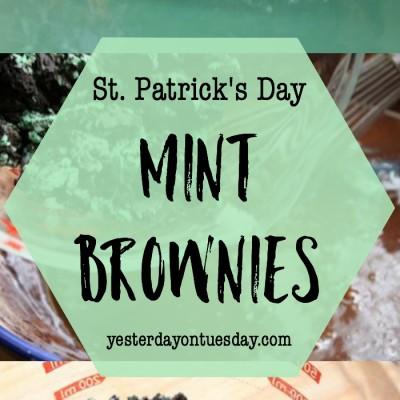 Vintage YoT: St. Patrick's Day Mint Brownies