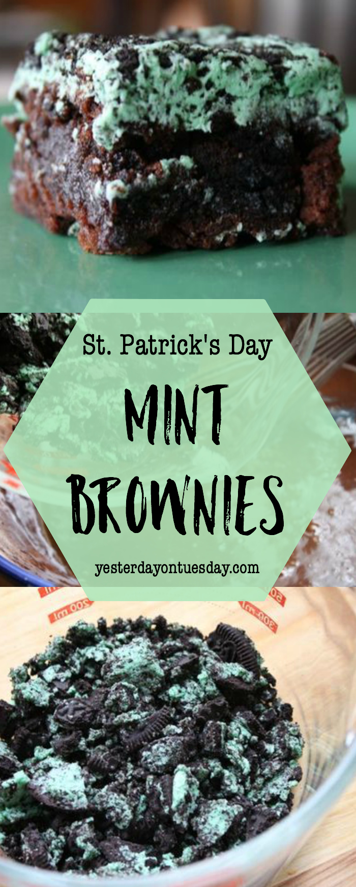 St. Patrick's Day Mint Brownies, an easy and delicious dessert for St. Pat's Day!
