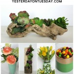 Tips for Brining Greenery, the Pantone Color of the Year, into your home. Ideas including a mason jar project, succulents craft, painted pottery and more