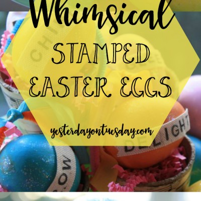 Whimsical Stamped Easter Eggs
