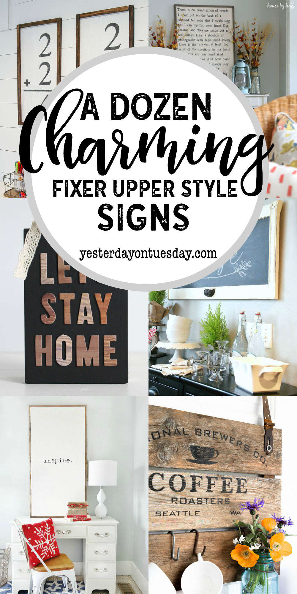 A Dozen Charming Fixer Upper Style Signs: Great DIY signs to make for your home.