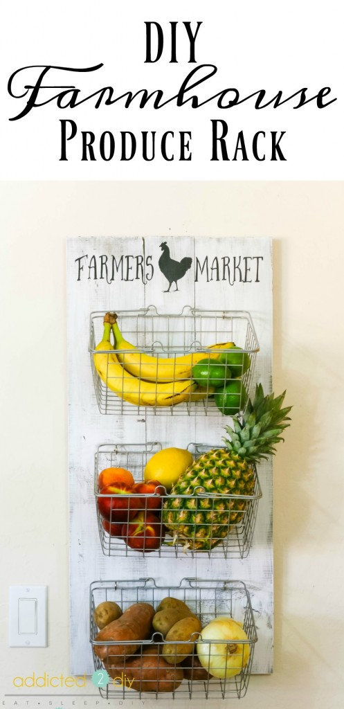 Farmhouse Produce Rack