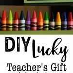 DIY Lucky Teacher's Gift: Colorful and fun frame, great teacher's gift idea, also great for St. Patrick's Day!