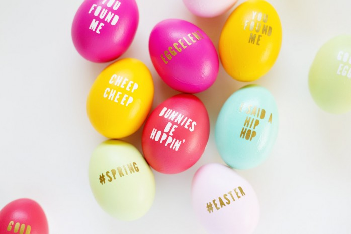 DIY Typography Easter Eggs from Lovely Indeed