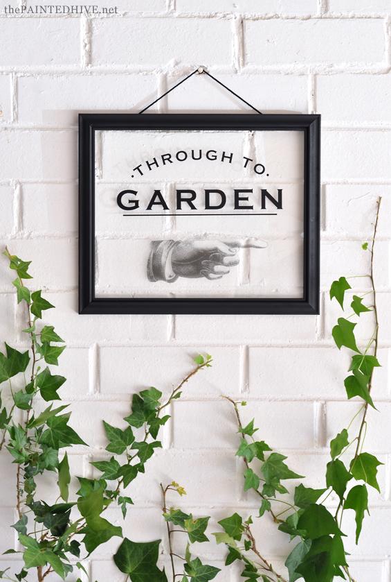 Vintage Style Garden Sign