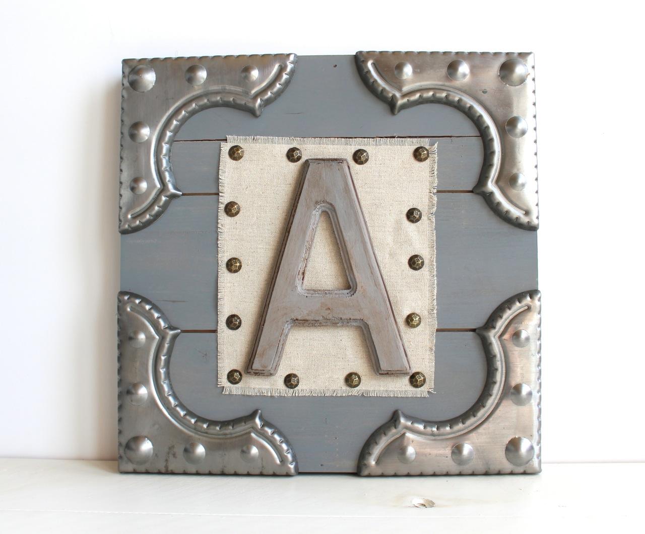 Metal Monogram Sign