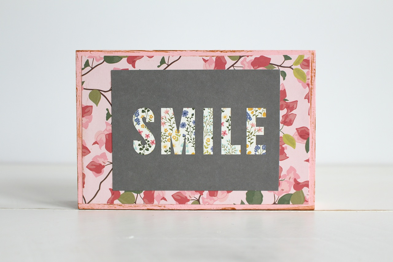 Rustic Smile Sign