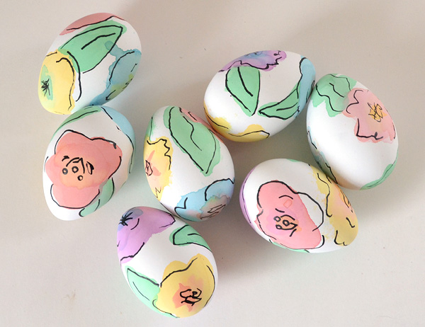 Watercolor Floral Easter Eggs from Dream a Little Bigger