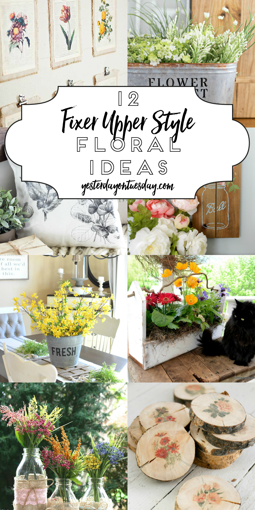 Modern Farmhouse Floral Decor