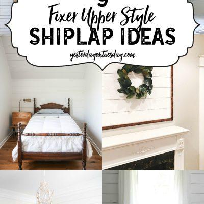 Nine Fixer Upper Style Shiplap Ideas