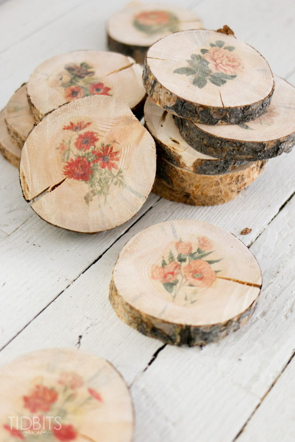 DIY Botanical Wood Slices