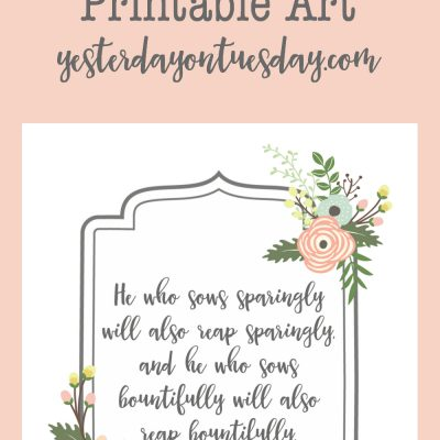 Bountifully Bible Verse Printable Art
