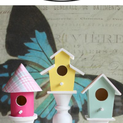 DIY Birdhouse Candlesticks