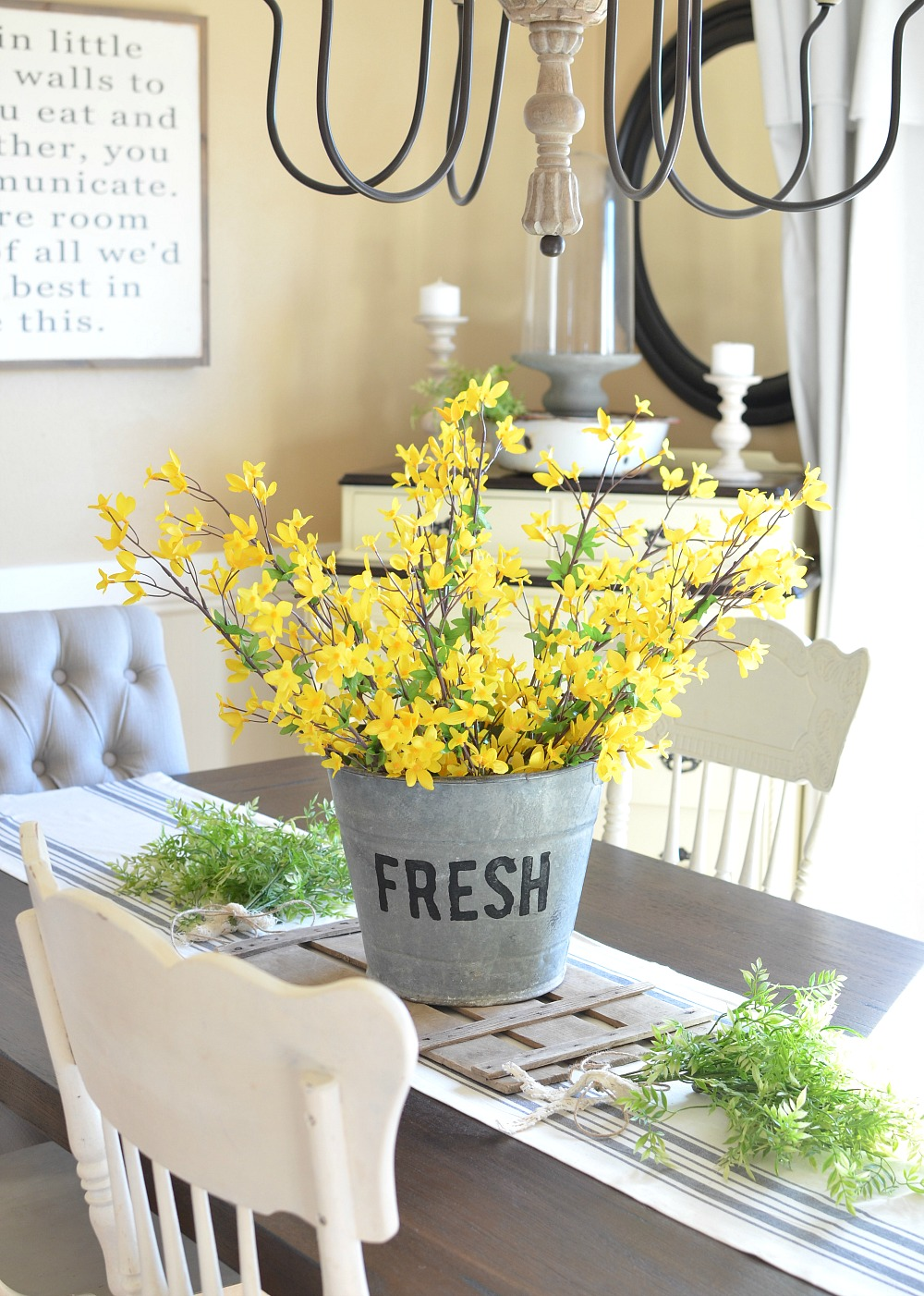 Bucket of Flowers Centerpiece