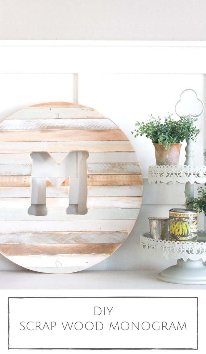 Monogram with Scrap Wood