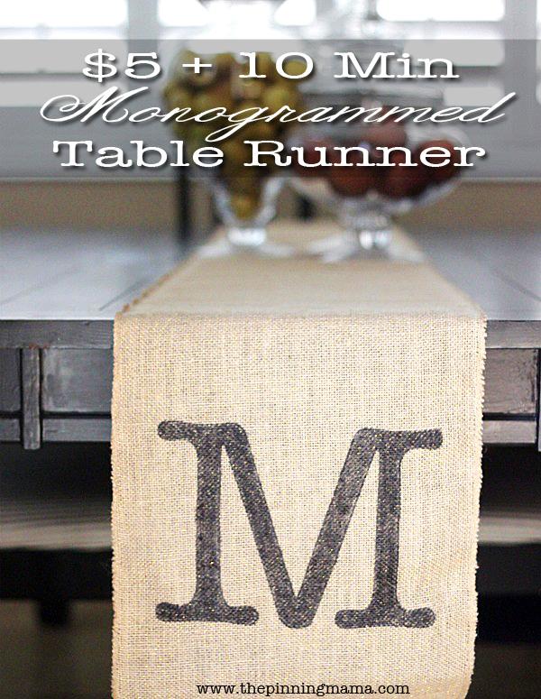 Monogrammed Table Runner