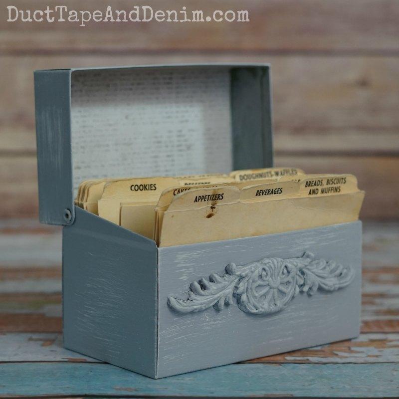 Blue Recipe Box