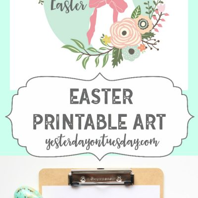 Happy Easter Printable Art