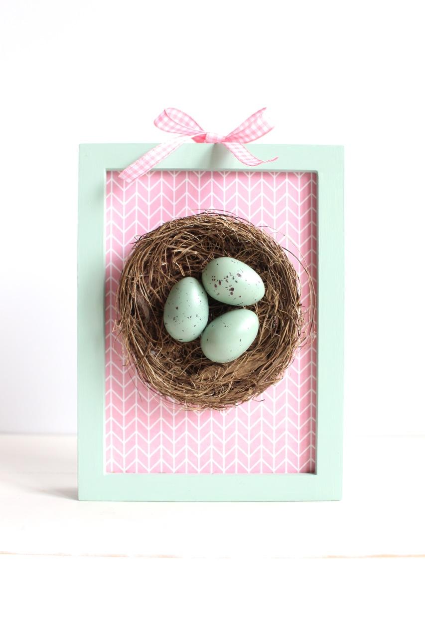 DIY Framed Nest Art