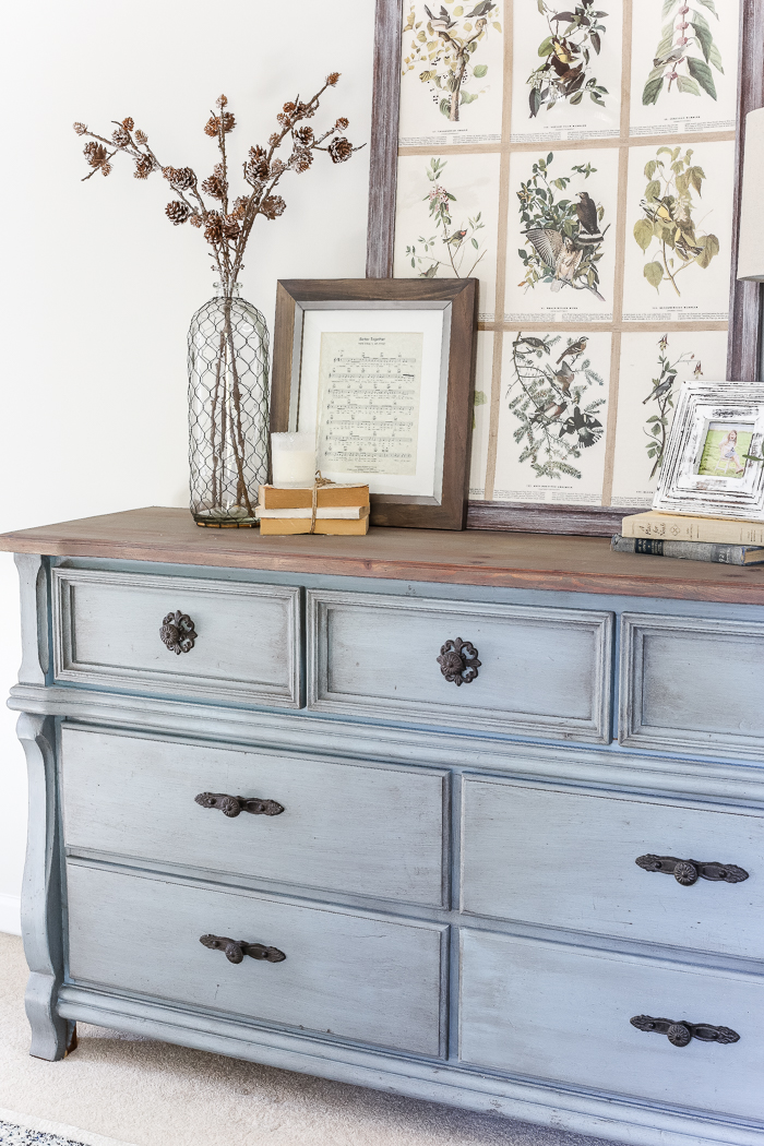 DIY French Blue Dresser