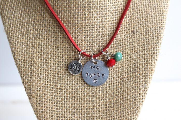 DIY Stamped Metal Necklace