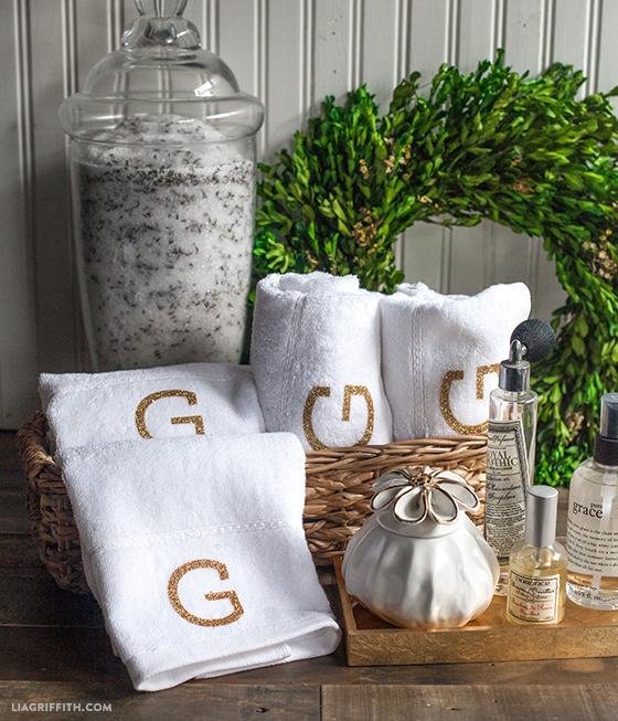 DIY Monogrammed Towels