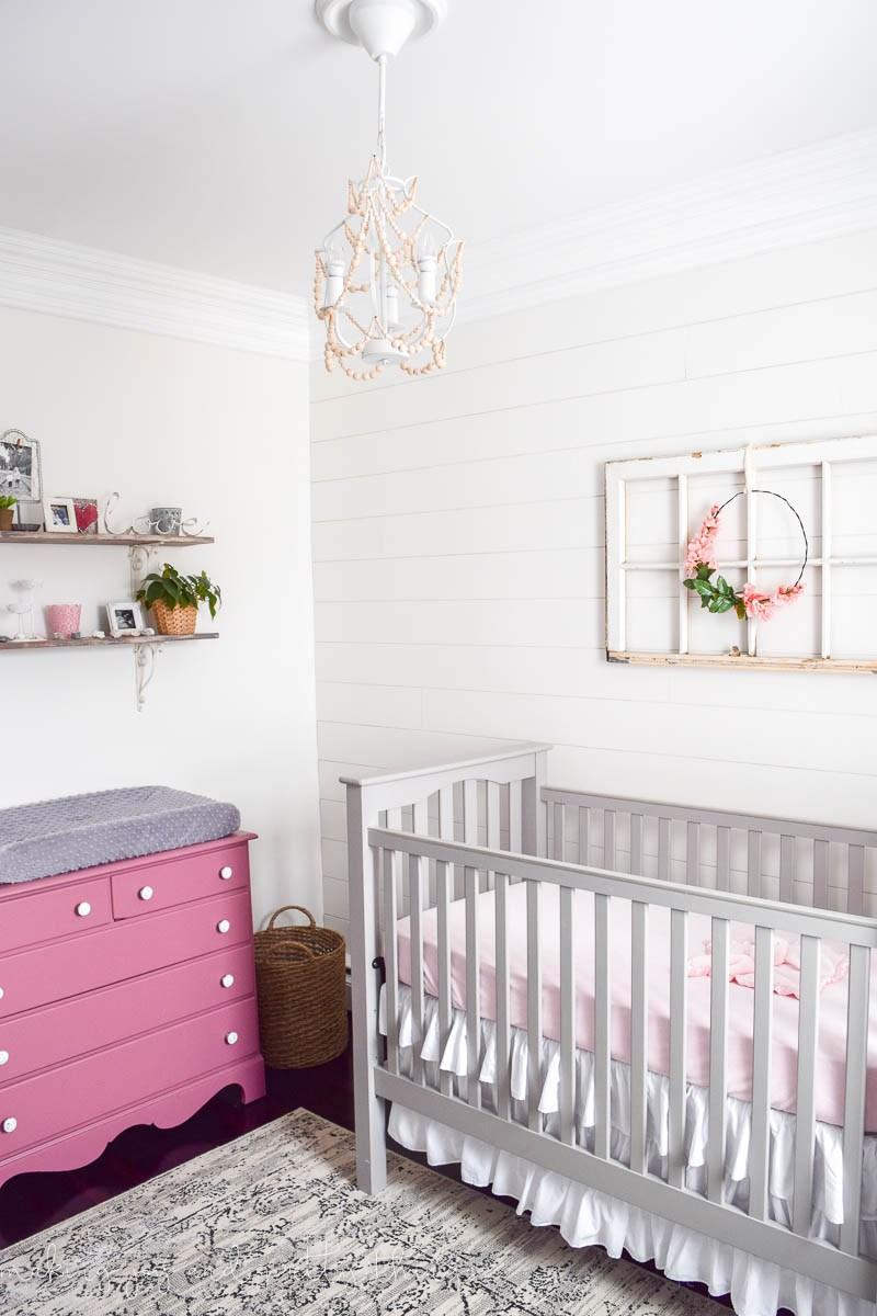 Girl's Nursery with Shiplap