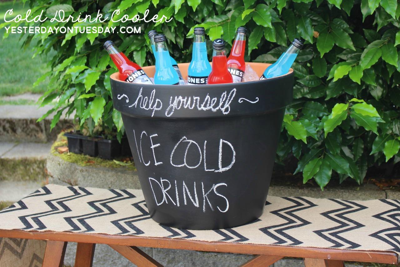 Flower Pot Cold Drink Holder