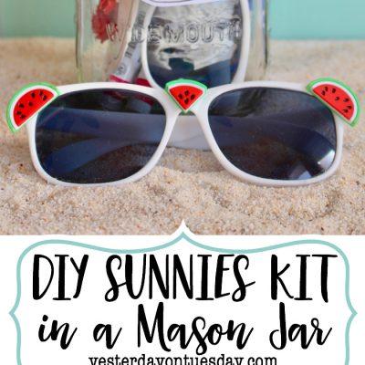 DIY Sunnies Kit in a Mason Jar