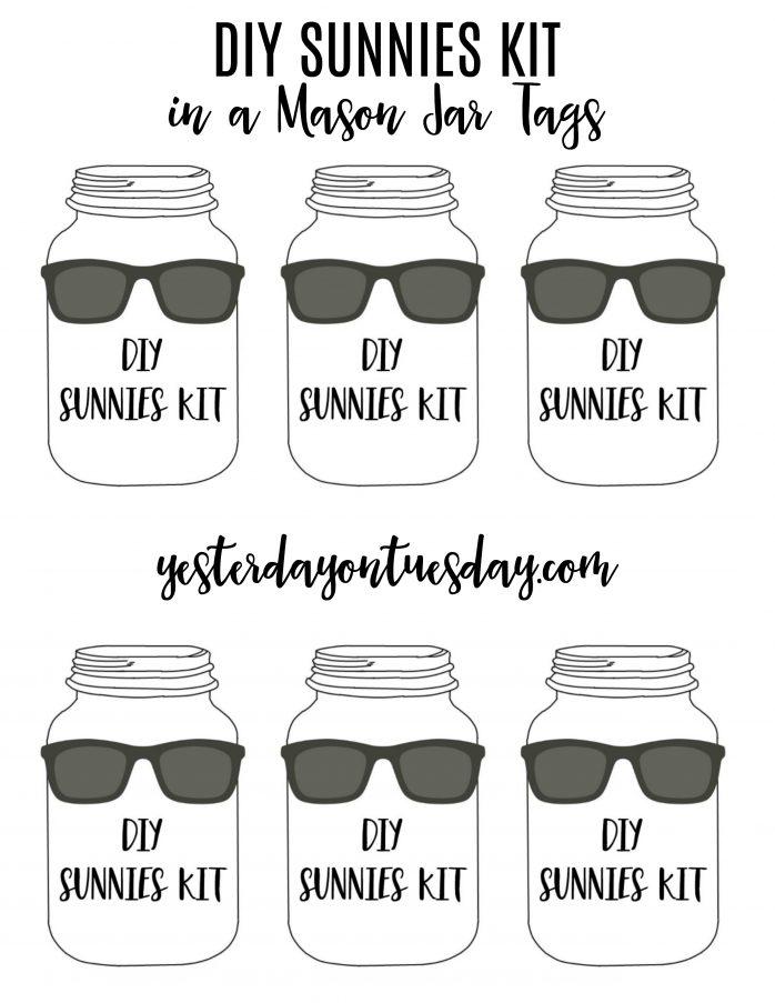 Sunnies Kit in a Mason Jar