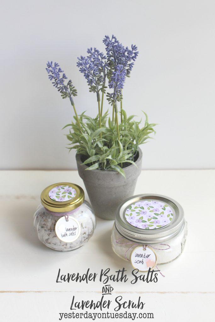 DIY Lavender Bath Salts and Lavender Scrub