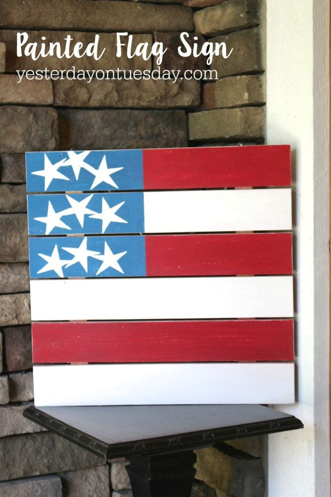 DIY Painted Flag Sign